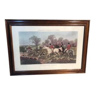 "Herrings Fox Hunting Scenes Lithograph, ""Breaking Cover"" For Sale"