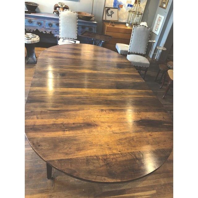 Chocolate 19th Century Louis XVI Style French Provincial Extending Walnut Dining Table For Sale - Image 8 of 9