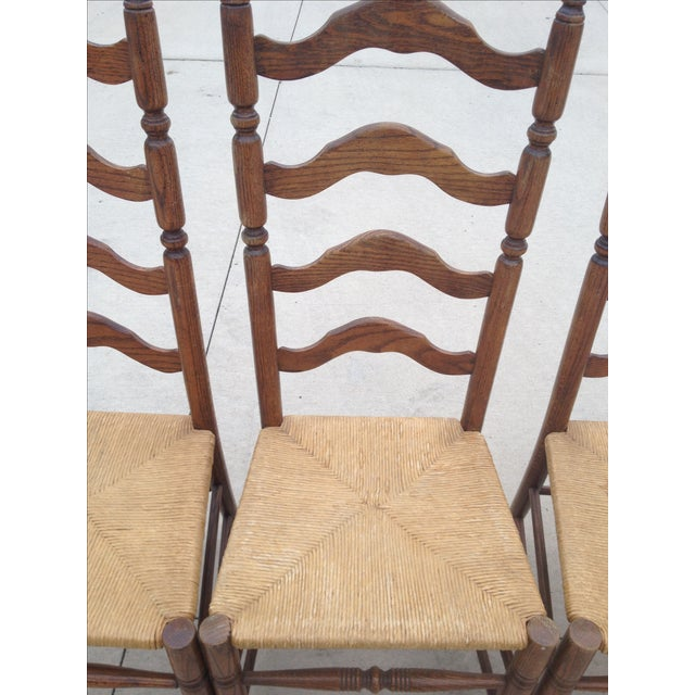 Vintage Tall Ladder Dining Chairs - Set of 4 - Image 8 of 10