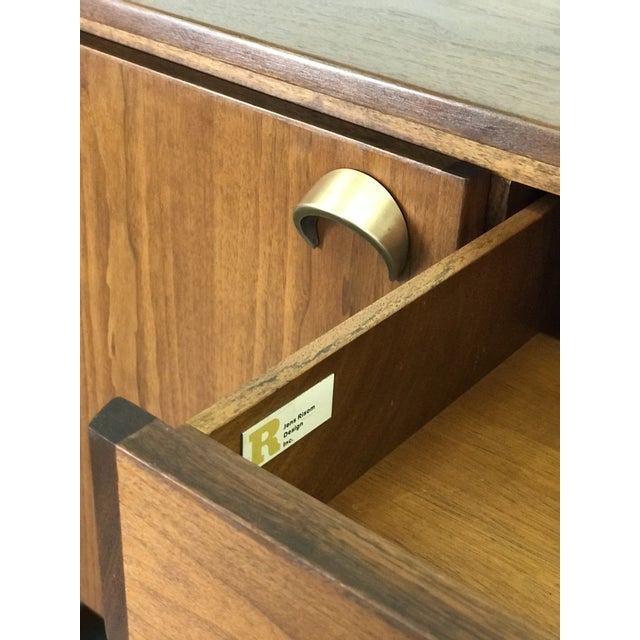 Metal Nicely Designed Walnut Sideboard Cabinet by Jens Risom; 1960's. For Sale - Image 7 of 13