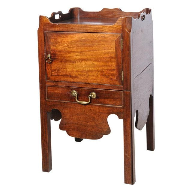 English mahogany night stand For Sale - Image 10 of 10