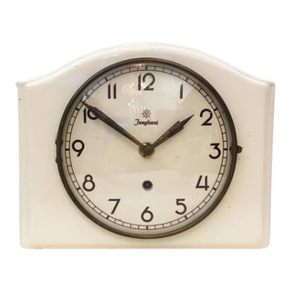 Mid-Century Ceramic Wall Clock by Junghans For Sale