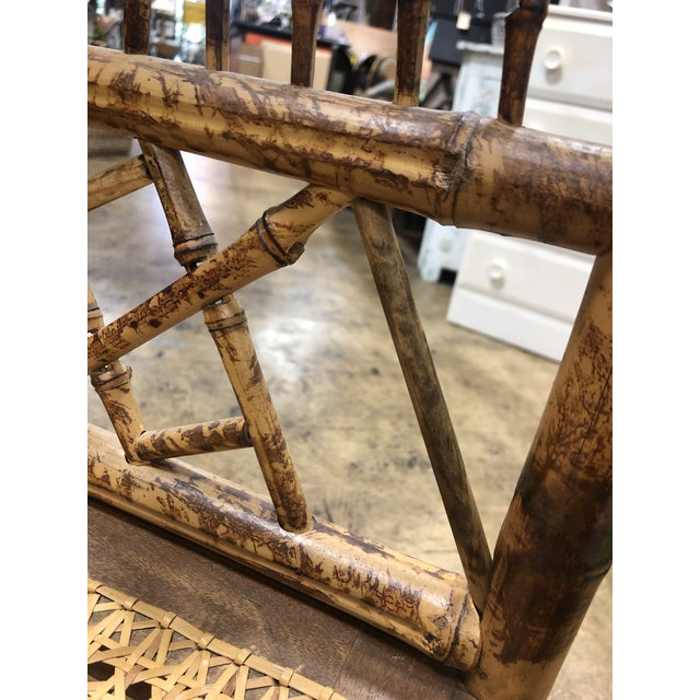 Vintage Brighton Pavilion Style Bamboo Rattan Chairs- A Pair For Sale - Image 4 of 11