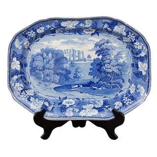 """Staffordshire Platter """"Brancepeth Castle"""" For Sale"""