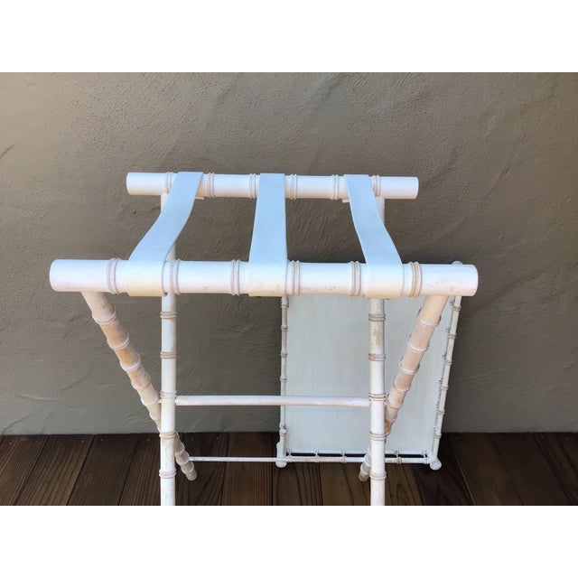 Faux Bamboo Bar Stand For Sale - Image 4 of 6