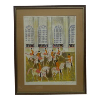 """Horses on Parade"" Framed & Matted Limited Edition Signed Numbered (186/375) Print For Sale"
