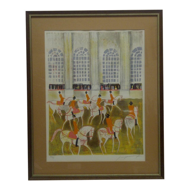 """""""Horses on Parade"""" Framed & Matted Limited Edition Signed Numbered (186/375) Print For Sale"""