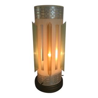 1950's Mid-Century Modern Atomic Fiberglass Table Lamp For Sale
