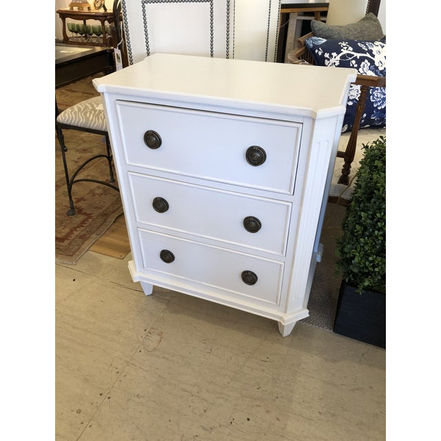 White Painted Chest of Drawers Nightstand For Sale - Image 10 of 10