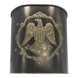 1960s Vintage Tin Eagle Trash Bin For Sale