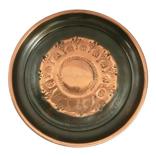 Copper & Black Round Tray