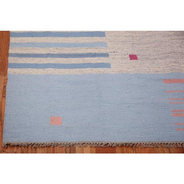 Vintage Scandinavian Swedish Flat-Woven Kilim Rug - 5′7″ × 8′ For Sale In New York - Image 6 of 10