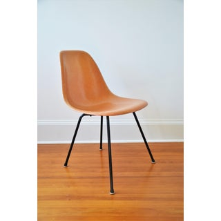 1950s Vintage Charles & Ray Eames for Herman Miller Dsx Fiberglass X-Base Shell Chair Preview