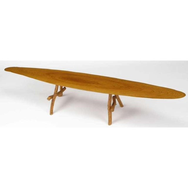 Adirondack Adirondack Style Natural Wood Surf Board Coffee Table For Sale - Image 3 of 8