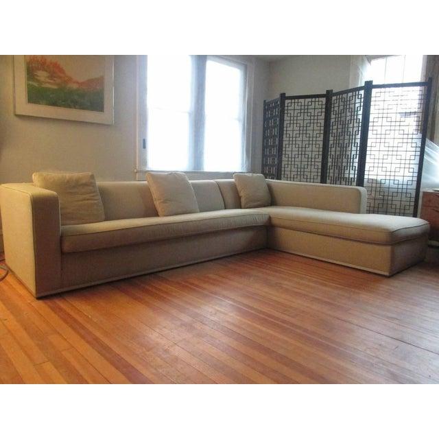 B&B Italia Antonio Citterio for B&b Italia Sectional Sofa & Large Ottoman For Sale - Image 4 of 13