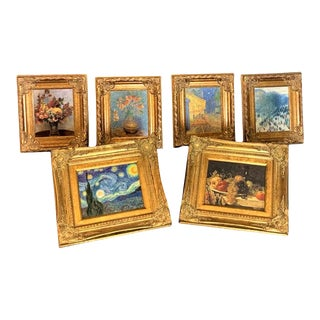 Museums of France Brushstrokes Collection Masterpiece Life Enhanced Paintings - Set of 6 For Sale