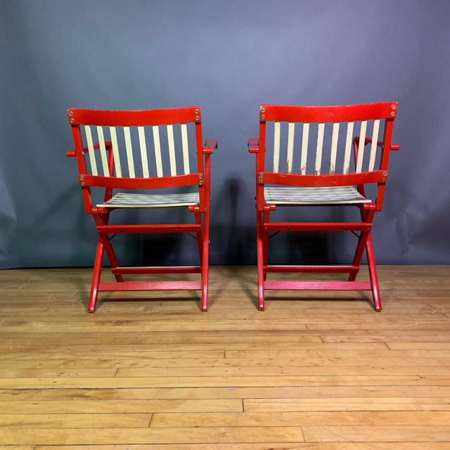 1960s Pair Fratelli Reguitti Lacquered Folding Chair, Italy 1960s For Sale - Image 5 of 13