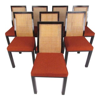 Harvey Probber Cane Dining Chairs