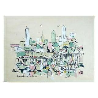 Watercolor of Fishermen's Wharf, San Francisco