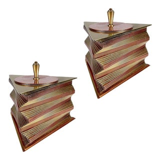 Otar Stacked Brass and Copper Box, - a Pair For Sale