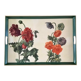 Serving Tray With Flower Drawings For Sale