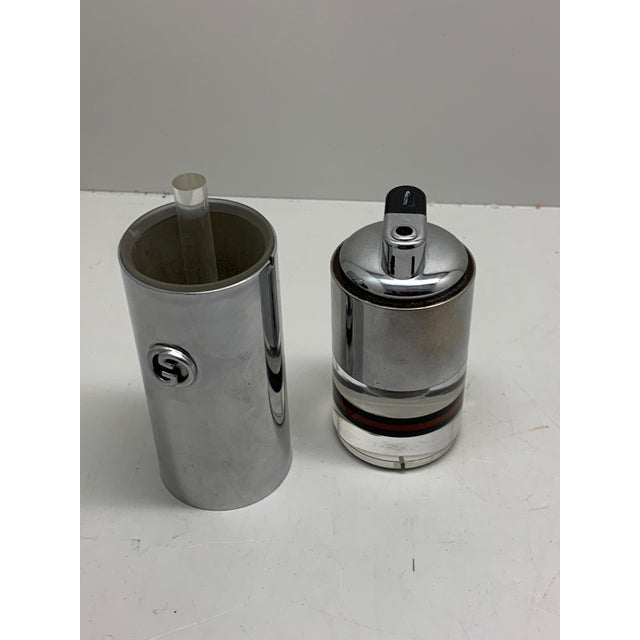 1970s Gucci Lucite and Chrome Table Lighter For Sale In Palm Springs - Image 6 of 8