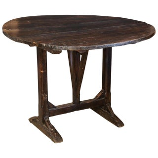 19th Century French Wood Tilt-Top Vineyard Harvest Table For Sale