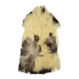 "Handmade Long Hair Sheepskin Pelt - 3'0"" x 4'6"""
