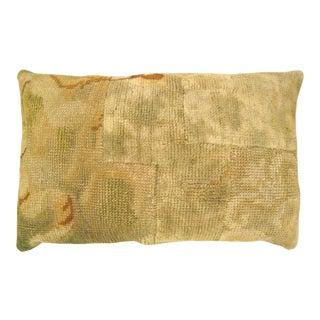 Antique European Savonnerie Carpet Pillow For Sale