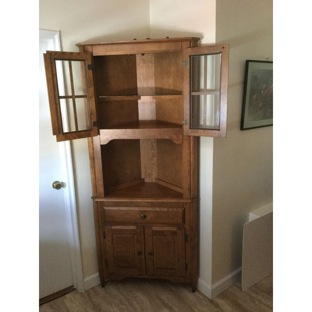 Corner Hutch/Buffet/China Cabinet - Handcrafted, Solid Birch - Image 7 of 10