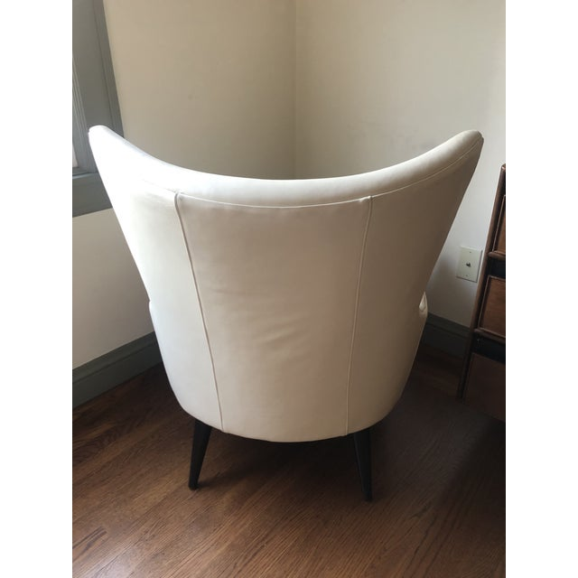 Contemporary Modern Room and Board Lola Leather Chair For Sale - Image 3 of 10