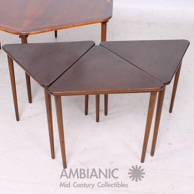 Superb Hexagon Coffee Table And Nesting Tables Danish Mid Century Modern In  Rosewood   Image 6