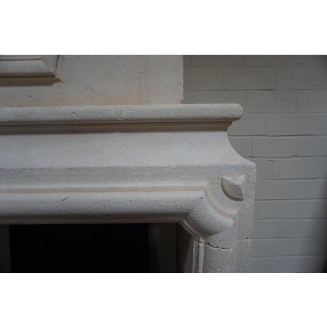 Louis XIII Limestone Mantel with Trumeau For Sale - Image 4 of 6