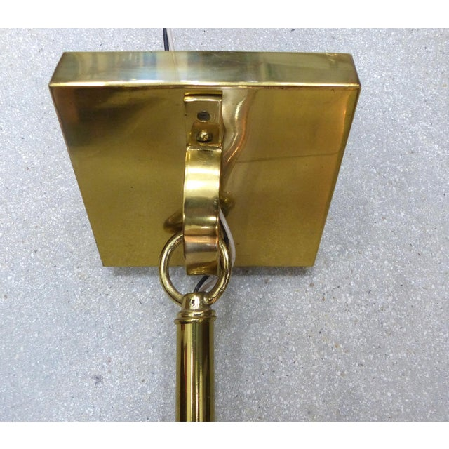 Mid-Century Modern Brass Pendant Fixture - Image 6 of 10