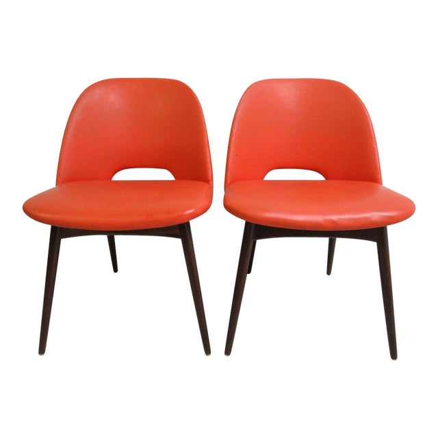 Adrian Pearsall Craft Associates Scoop Side Chairs - A Pair For Sale