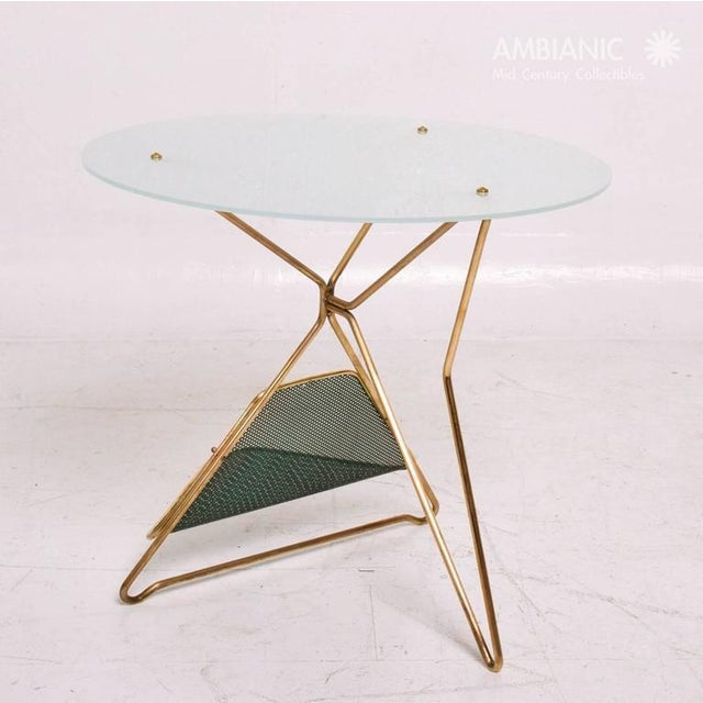 Mid-Century Modern Mid-Century Modern Italian Table With Magazine Holder For Sale - Image 3 of 9