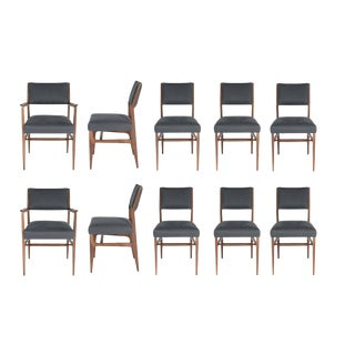 Set of 10 Maze Walnut Dining Chairs For Sale