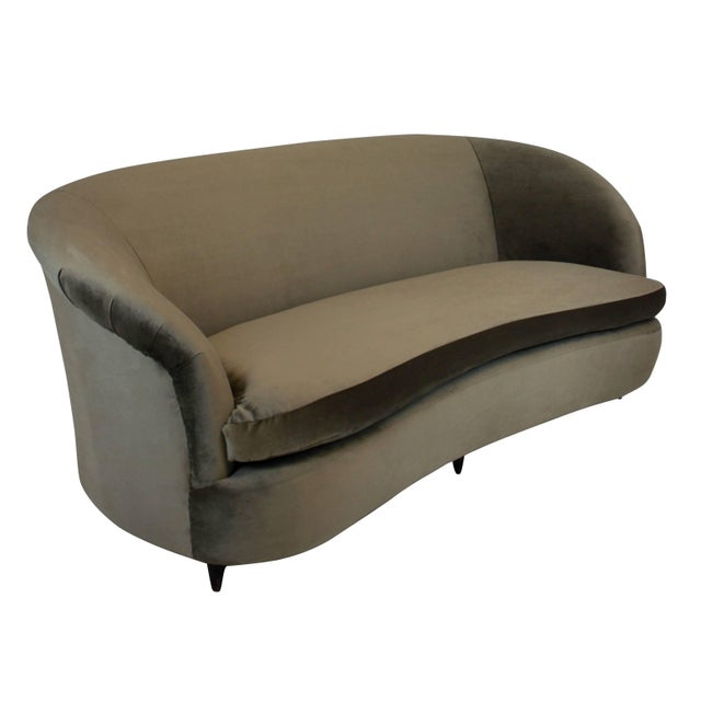 Traditional Large Sculptural Parisi Settee For Sale - Image 3 of 4
