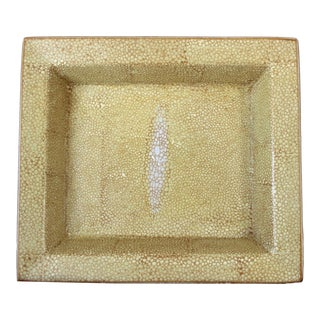 Faux Shagreen Catchall Dish For Sale