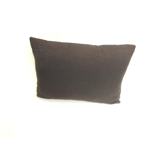Vintage Yellow and Black Graphic Mola Decorative Pillow For Sale - Image 4 of 5