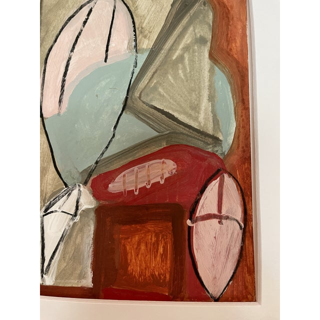 Paper Contemporary Abstract Mixed-Media Painting For Sale - Image 7 of 10