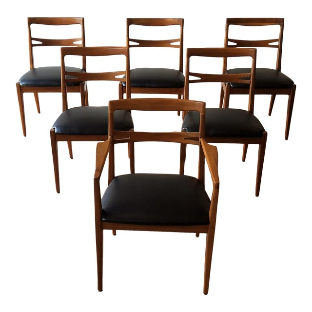 1953 Newly Upholstered Drexel Declaration Collection Dining Chairs - Set of 6 For Sale