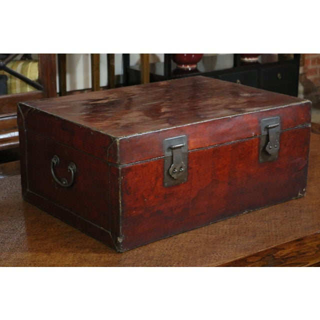 Early 19th Century Leather Trunk, Shanghai Province, China, C.1800
