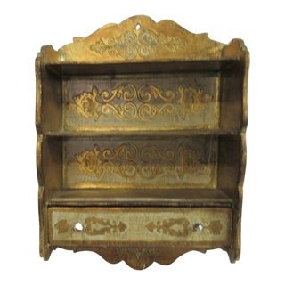 Florentine Wall Hanging Cabinet Shelf For Sale