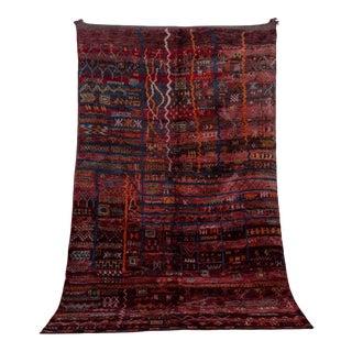 """Beni M'guild Vintage Moroccan Rug, 6'7"""" X 10'2"""" For Sale"""