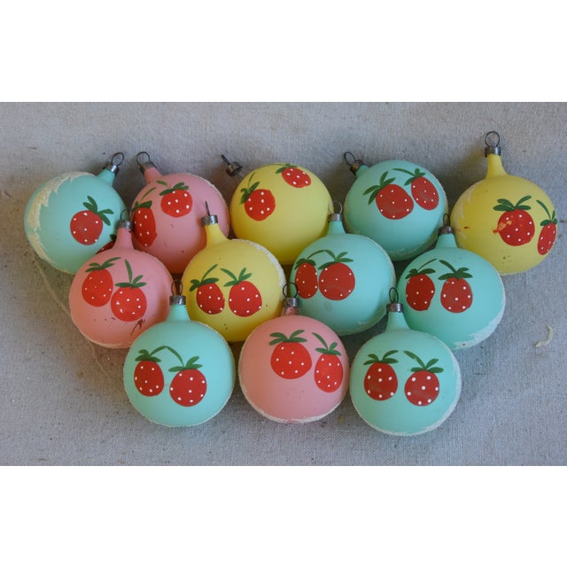 Cardboard 1960s Christmas Tree Ornaments W/Box - Set of 12 For Sale - Image 7 of 8