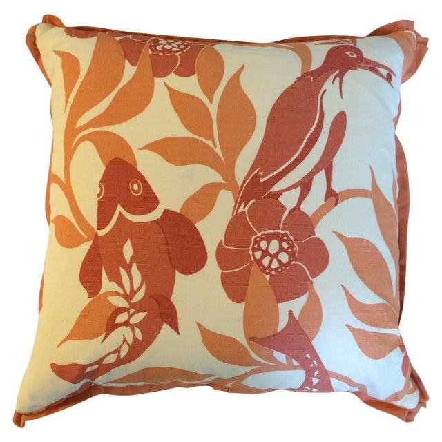 Orange Koi Pillows - A Pair - Image 1 of 4