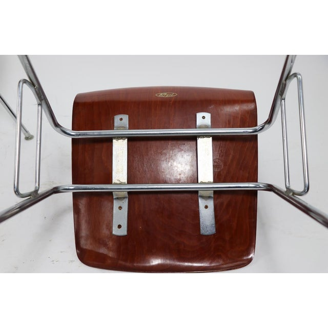 Metal Pr. Royal Pagholz Mid Century Stacking Chairs For Sale - Image 7 of 9
