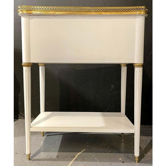 Pair of Swedish Neoclassical Open Nightstands or End Tables Manner Jansen For Sale - Image 9 of 13