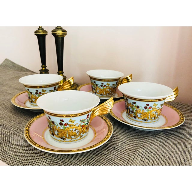 Rosenthal Versace Butterfly Garden Teacups - Set of 4 For Sale In Boston - Image 6 of 6